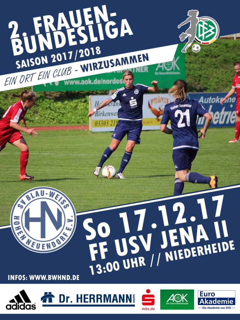 1. Frauen: BWHND - FF USV Jena II @ Niederheide | Hohen Neuendorf | Brandenburg | Deutschland