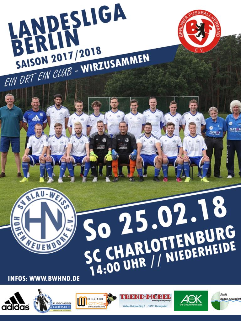 1. Herren: HN - SC Charlottenburg @ Niederheide | Hohen Neuendorf | Brandenburg | Deutschland