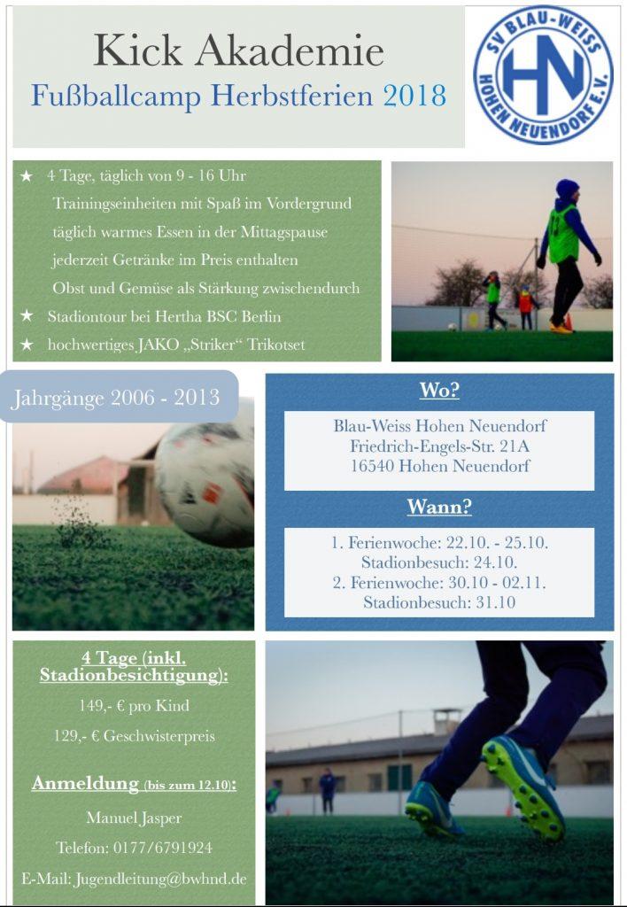 Kick Akademie I @ Niederheide | Hohen Neuendorf | Brandenburg | Deutschland