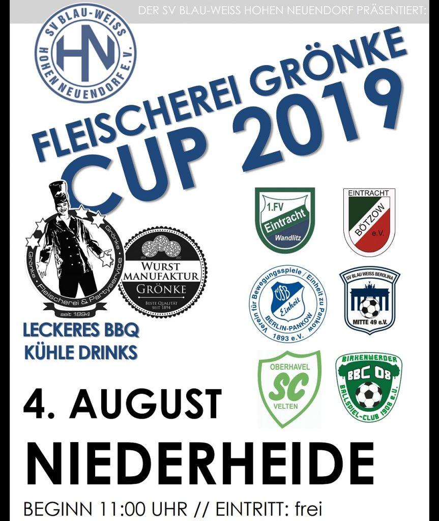 Fleischerei Grönke Cup 2019 @ Niederheide | Hohen Neuendorf | Brandenburg | Deutschland