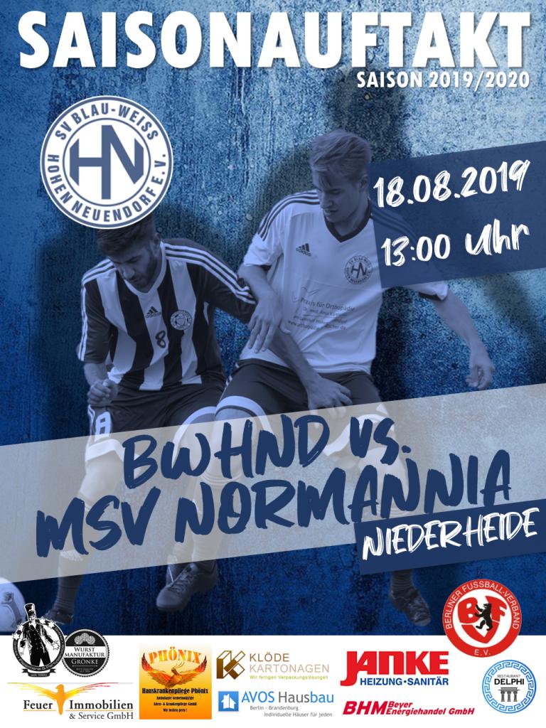 1. Herren // BWHND - Normannia 08 @ Niederheide | Hohen Neuendorf | Brandenburg | Deutschland
