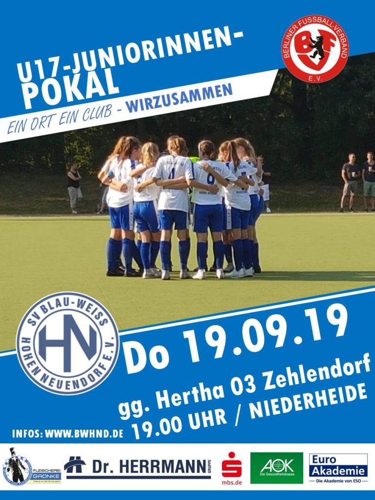 U17-Juniorinnen // BWHND - Hertha 03 Zehlendorf @ Niederheide | Hohen Neuendorf | Brandenburg | Deutschland