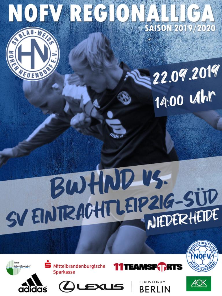 1. Frauen // BWHND - Eintracht Leipzig Süd @ Niederheide | Hohen Neuendorf | Brandenburg | Deutschland