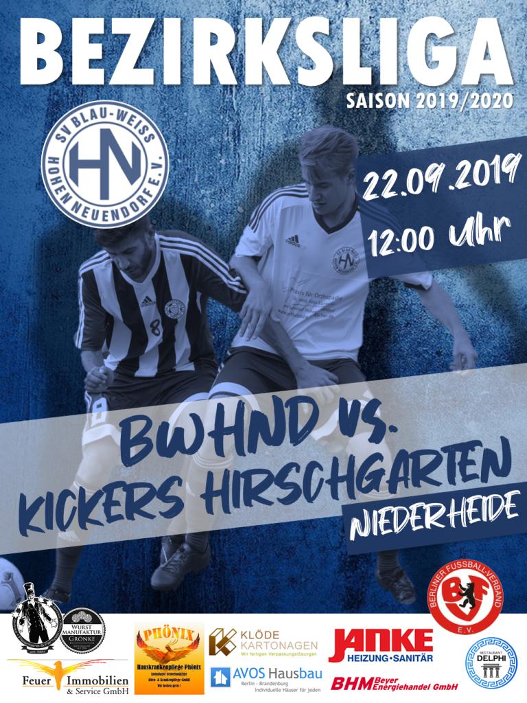 1. Herren // BWHND - Hirschgarten @ Niederheide | Hohen Neuendorf | Brandenburg | Deutschland