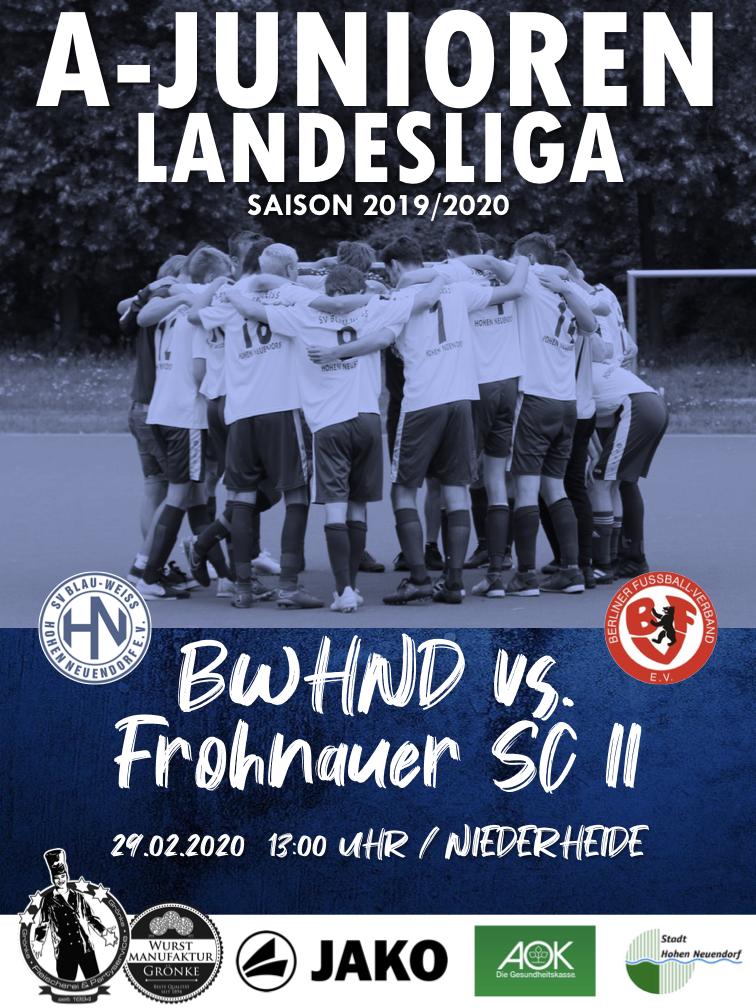 U19 // BWHND - Frohnauer SC II @ Niederheide | Hohen Neuendorf | Brandenburg | Deutschland