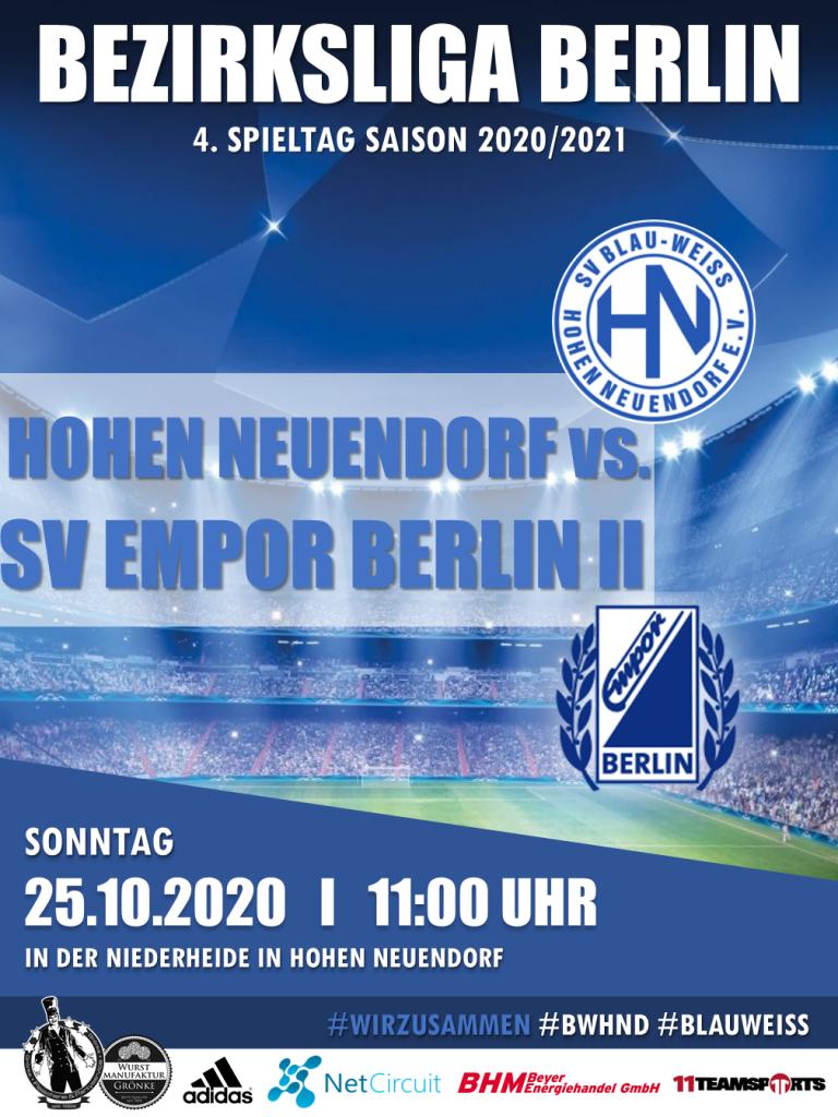 1. Herren // BWHND - Empor II @ Niederheide | Hohen Neuendorf | Brandenburg | Deutschland